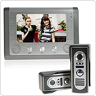 TFT / LCD 7 Inch Home Security Video Doorbell Door Phone Intercom Kit 2 Cameras + 1 Monitor Night Vision
