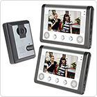 7 Inch TFT / LCD Color Video Door Phone Doorbell Intercom Kit 1 Camera & 2 Monitor  with Night Vision