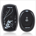 EU Plug 36 Tones Wireless Smart Remote Control Doorbell with LED Light + Waterproof Doorbell Button