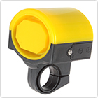 Bike Bicycle Electronic Alarm Loud Bell Horn - Yellow