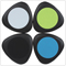 Portable Triangle Shape Qi Standard Wireless Charger Mini Charging Pad for Nokia Lumia / LG / HTC / Samsung / iPhone