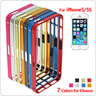 Stylish Aluminum Alloy Case for iPhone 5 / 5S with Repair Kit - 7 Optional Colors
