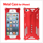 Fabulous Red / Green Color Hard Metal Protective Cover for Apple iPhone 5