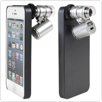 Dual-purpose Cellphone Case Ancillary 60X Mini Microscope for iPhone 5 / 5S