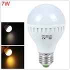 7W E27 220V 12 x 2835 LED White / Warm White Light Energy-saving Bulb for Home Furnishing /    Commercial Use