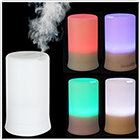 100ML 4 LED Colors & 4 Timing Modes Ultrasonic Aroma Vibration Diffuser & Humidifier - White