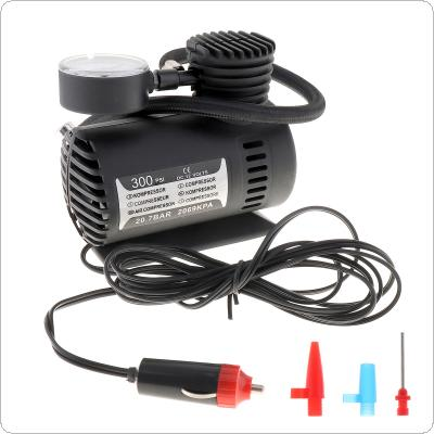 Portable 12V 250PSI Electric Pump Air Compressor Tire Inflator for Motorcycles / Electromobile / Canoeing