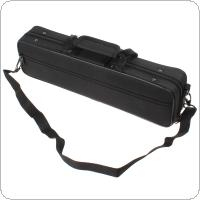 Black Portable & Lightweight Flute Cloth Box with Shoulder Strap