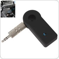 Bluetooth Receiver Portable Wireless Audio Adapter Hands-Free Calling Car Kits with 3.5mm Stereo Output + Mic for Home Audio A2DP Music Streaming Sound System