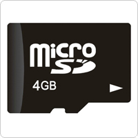 4GB Class 4 Micro SD / TF TransFlash Memory Card for Cell Phones / Tablets PC