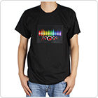 Sound Activated LED Light Music T Shirt with Detachable EL Panel Fit for Party / Dance / DJ