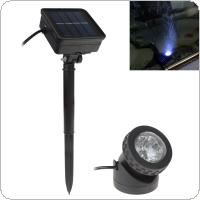 Waterproof Solar Powered LED Spotlight Spot Light Lamp Garden Pool Pond Outdoor