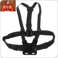 Black Adjustable Chest Strap Mount Chesty Harness for GoPro HD Hero 1 / 2 / 3