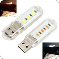 5V 1.5W 3 x 2835 LED Beads Small USB Night Light with Warm Light / White Light