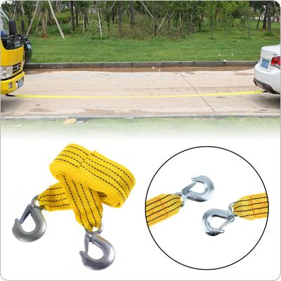 3 Tons 4 Meter Fluorescence Universal Car Tow Cable Towing Strap Rope with Hooks