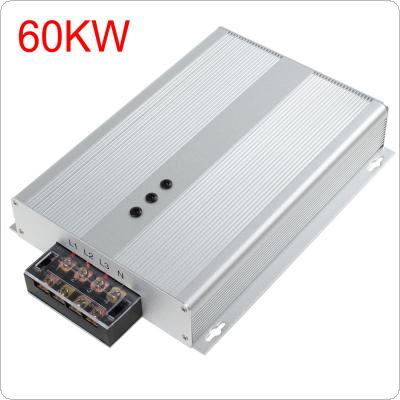 Silver 60KW AC 90-400V Intelligent Electricity Saving Box with Three Phase Industrial Power Saving for Chemical Industry / Food Processing / Business Enterprise