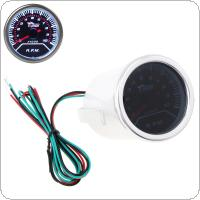 "2"" 52mm 0 ~ 10000RPM Car Vehicle White LED Universal Tachometer Tacho Gauge Meter RPM"