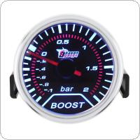 2 Inch 52mm DC 12V -1~2 Bar Car Turbo Boost Gauge Meter with Led Display