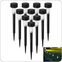 10 x White LED Outdoor Garden Light Solar Powered Landscape Yard Lawn Path Lamp