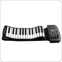 KONIX PA88 88 Keys MIDI Flexible 140 Tones Electronic Roll Up Folding Piano Built-in Speaker with Battery