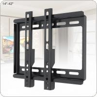 Universal 25KG Adjustable TV Wall Mount Bracket Flat Panel TV Frame with Level Instrument Fit for 14 ~ 42 Inch HDTV Flat Panel TV