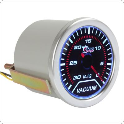 "2"" 52mm Vacuum Meter Guage for Auto Car with Led Light Display 0~30 IN.HG"