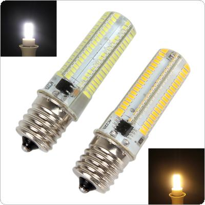 Dimmable E17 White / Warm White 152 LEDs 3014 SMD 10W Corn Bulb Silicone Lamp