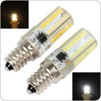 E12 Dimmable White / Warm White 80 LED 3014 SMD Light Silicone Crystal Bulb Lamp 110V / 220V 360 Beam Angle LED Spot Light Crystal Light Lamp