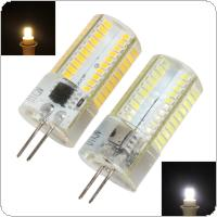 G4 Dimmable 80 LED 3014 SMD Light Silicone Crystal Bulb Lamp 110V / 220V White / Warm White