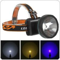 800Lumens 5W 2Modes LED Headlamp Yellow / Blue / White Light for Camping / Cycling / Climbing