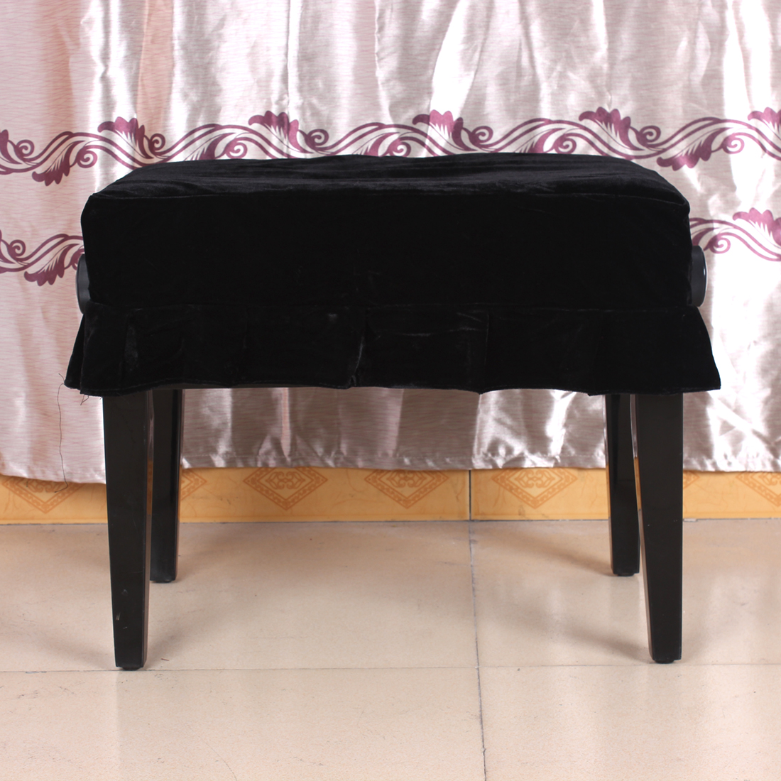 55 x 35cm Pleuche Musical Piano Dust Guard Stool Cover Slipcover for Single Chair