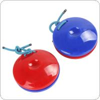 2pcs Finger Castanets Plastic Percussion Instrument Idiophone for Dance KTV Party Games