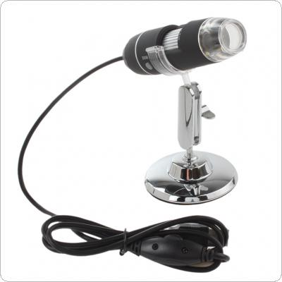1000X 2MP USB 8 LEDs Electronic Digital Microscope Inspection Camera Magnifier with Metal Stand