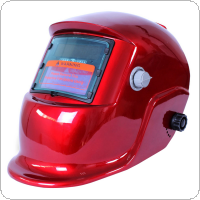 Red Cover Auto Darkening Solar Welders Welding Helmet  Mask with Grinding Function Ideal for ARC/MIG/TIG/Stick Welding