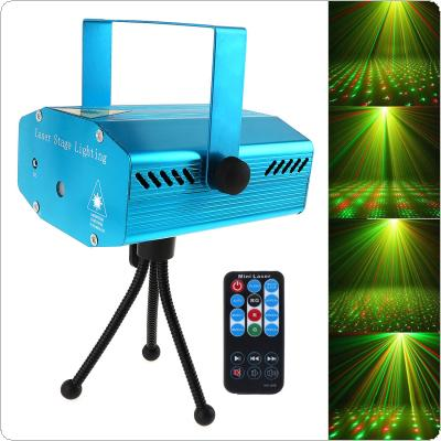 Sound Activation Stage Laser Star Starry Effects Projector - Green & Red Lights