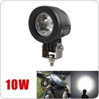 2 Inch 12V/24V 1000LM 10W Waterproof LED Work Light Driving Fog Lamp for Car / Motorcycle / Boat / ATV