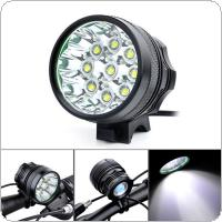 4500Lm 9 x XM-L T6 LED Camping Fishing Bicycle Cycling Flashing Light Lamp Waterproof + 8 x 18650 Battery Pack