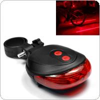 E-SMARTER Waterproof 2 Laser + 5 LED Flashing 3Modes Lamp Tail Rear Cycling Safety Warning Light for Bicycle Bike