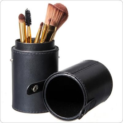 Black Leather Brush Empty Holder Makeup Artist Bag Match Your Own Brushes for Traveling