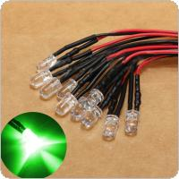 10pcs 12V 10 x Pre Wired 5mm LEDs Bulb 20cm/7.8in Prewired
