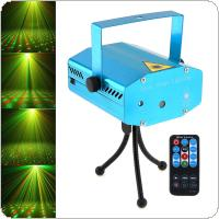 Mini R&G Auto / Voice Xmas DJ Disco LED Laser Stage Light Projector with Remote Controller