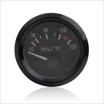 Audew 2 Inch Universal Car Oil Temperature Temp Gauge 50-150 with LED Light