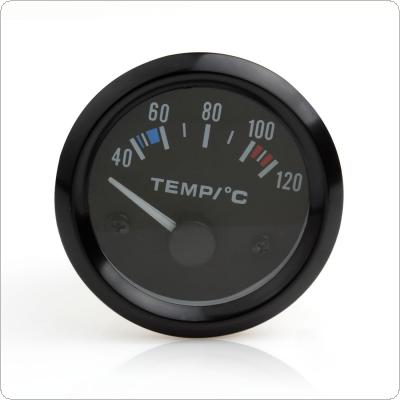 2inch 12V Universal Car Pointing Water Temperature Temp Gauge 40 - 120 White LED
