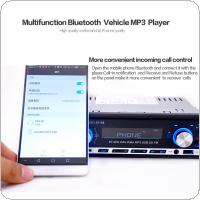 Bluetooth 1 DIN In Dash Car Stereo Audio  FM Radio Aux Input Receiver SD USB MP3 Player