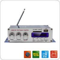 HY-400 12V Car Digital Display Power Amplifier Support USB / SD Card Input with Remote Control