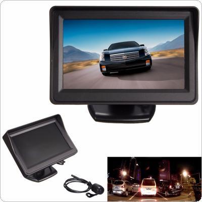 4.3Inch TFT LCD Screen Car Auto Rear View Monitor + Waterproof Night Vision Reverse Camera