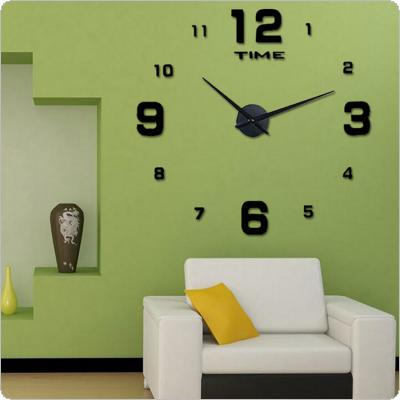 3D Wall Clock for Living Room Big Acrylic Stickers Modern Design Home Decor