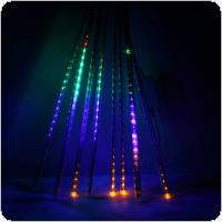 Waterproof 100-240V 240 LEDs Waterproof 50cm/1.6ft Tube Outdoor Snowfall Meteor Shower Rain Christmas Xmas Lights String