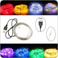 5V USB Operated 33FT 10M 100led Christmas Holiday Wedding Party Decoration Festival LED Copper Wire String Fairy Light Lamp