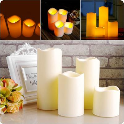 Cylindrical Flickering LED Candle Light Flameless for Garden Yard / Christmas Lamp Decoration